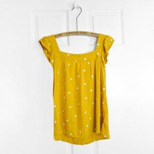 Universal Threads Mustard Floral Blouse